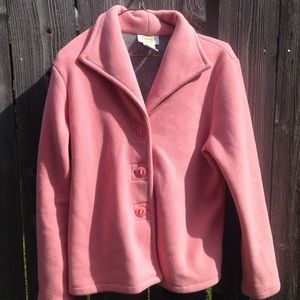 Talbots pink fleece jacket
